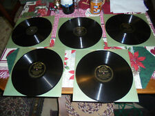 VINTAGE VICTOR RECORD LOT (5) GEMS VICTOR LIGHT OPERA COMPANY NICE CONDITION
