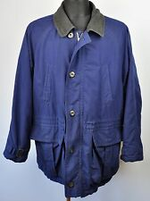 HUGO BOSS Olefin Navy Jacket Pea Coat 42 UK Large Mac EUR 52 Gr Jacke Herren