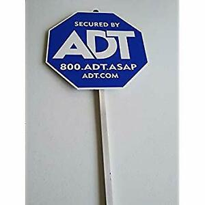 NEW 2020 ADT SECUITRY YARD SIGN AND NO FREE STICKERS WATERPROOF & UV RESISTANT
