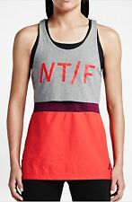 BNWT Nike T/F Layered SAMPLE Racer Back Running Vest Tank Top Sz S