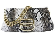 MATALAN PREMIUM COLLECTION SNAKE PRINT CLUTCH BAG PURSE WITH GOLD CHAIN BNWT