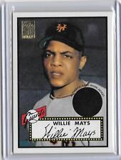 WILLIE MAYS 2001 TOPPS GAME WORN JACKET CARD