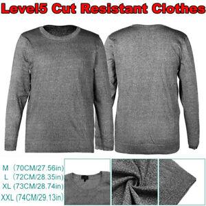 Level 5 Cut Resistant Clothes Anti Slash Clothing Round Neck Shirt Long Sleeve