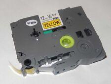 RUBAN CASSETTE 12mm N/J pour Brother P-Touch TZ-631, TZE-631