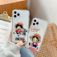 Cartoon One Piece Monkey.D.Luffy Phone Case For iPhone 11 12 Pro Max Mini XR XS