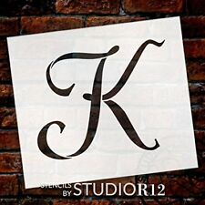 "Graceful Monogram Stencil - K - 5"" - STCL1911_2 - by StudioR12"