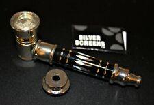 ORIGINAL BLACK METAL Smoking Pipe w/Lid Tobacco Pipe Metal pipe ALL METAL Pipes