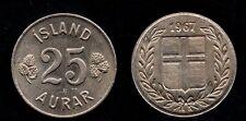ISLANDE   25 AURAR 1967   FDC / UNC