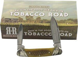 Rough Rider Tobacco Road Bone Canoe Pocket Knife RR1895 2 Folding Blades