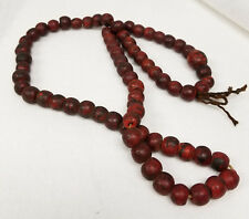 Antique Tibetan Nepalese Style Glass Bead Prayer Necklace Asian Chinese