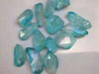 Aqua aura Quartz crystal BIGGER 2-3 inch 3 crystals per lot