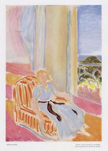 """Henri Matisse """"Jeune fille devant la fenetre"""" from Verve 1945"""
