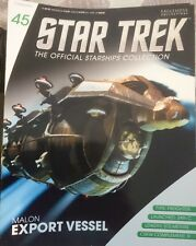Eaglemoss Star Trek official starship magazine. Issue 45 Malon Export Vessel
