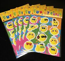 Smiley Sticker Sheet Unisex Party Bag Toy x 5