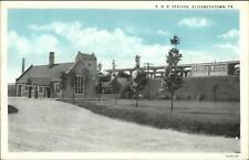 Elizabethtown Pa Prr Rr Train Station Depot c1920s Postcard