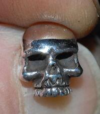 Skull Studs earing 925 Solid Silver Silbernen Totenkopf Crane d'aegent