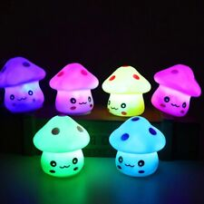Cute Color Changing LED Mushroom Lamp Mini Toys Children Sleeping Night Lights