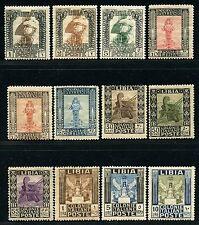 Italienisch Libyen Libia 1921 Freimarken Antiken Pittorica 24-35 Falz Mint/5