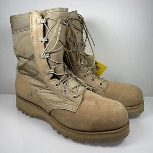 Belleville 220 Des ST Hot Weather Steel Toe Boots Size UK 8 US 9 Brown Military