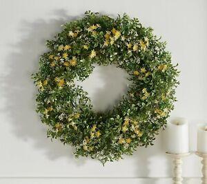 """Garden Reflections 24"""" Indoor/Outdoor Wreath - Yellow Mix"""