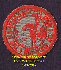 """LMH PATCH Badge  NARRAGANSETT PIER Railroad Co.  NAP Railway RI Indian Logo 2"""" b"""