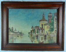 "S.E. Wood nice mid 1900's ""Venetian Scene"" Oil on canvas. (BI#MK/171119)"