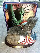Bald Eagle W/ Dish, On Freedoms Wing,2001, Celebrating Americas Glory