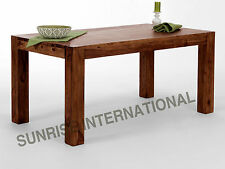 Solid Sheehsam Wood Dining Table (120x80x76 H cms  / 47.24 x 31.49 x 30 H inch )