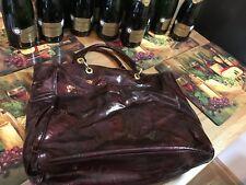 Estee Lauder dark red wine tote bag
