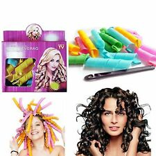 18PCS/Set DIY Magic Leverag Hair Curlers Tool Styling Rollers Spiral Circle Perm