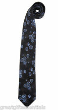 DOCTOR WHO 50TH ANNIVERSARY FLORAL NECKTIE Neck Tie 10th Dr Tennant Costume BBC