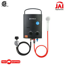 Camplux 5L Water Heater 1.32 GPM Outdoor Portable Tankless Hot Heater, Black