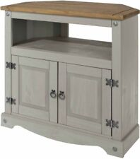 Premium Core Products Corona Grey Washed Pine Mexican Style Corner TV Unit