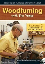 NEW! Woodturning with Tim Yoder Season 2 Episodes 1-6 [DVD]