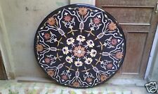 "36"" Marble Dining Coffee Table Top Marquetry Inlay Ornate Outdoor Decor H1976"