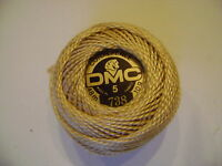 deux boules de coton perlé DMC grosseur N° 5 coloris N° 738 article 116