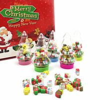 Christmas Novelty Rubber Pencil Eraser Stationery Kids Toy Gift Supplies