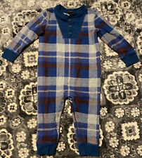 Tea Collection 12-18 Months One Piece Romper Holiday Plaid