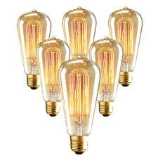 6pcs E27 40W Halogen Bulb 220~240V ST64 Yellow Warm Light Globe Lighting Fixture