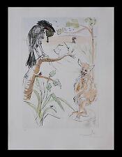 "Salvador Dali ""The Raven and the Fox"" Original Engravings COA by Frank Hunter"