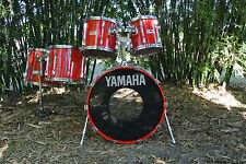 1987 YAMAHA POWER RECORDING CUSTOM DRUM SET STEVE GADD STYLE in HOT RED LACQUER!