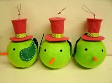 "3 FELT HANGING BIRD ORNAMENTS christmas Holiday 5"""