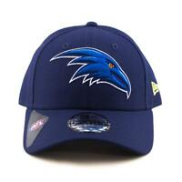 Adelaide Crows New Era Cap AFL 9Forty Curved Brim Hat In Navy Gym