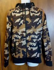 The North Face Military Urban Camo Zip Up Hooded Jacket Brown Size Medium