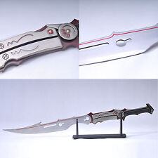 Cartoon Final Fantasy Lightning sword Medium carbon steel polishen handmade 1:1