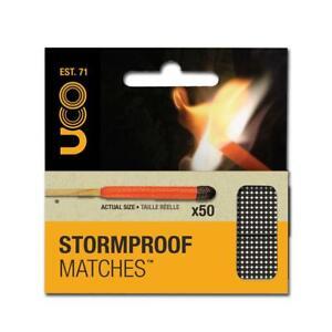 UCO Stormproof Matches x 50 Windproof Waterproof Inc. 4 Striker Survival