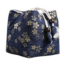 Print Cotton Teapot Storage Bag Drawstring Travel Makeup Pouch Shoes Bag