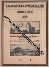 Maffei & Wiedemann München Brauerei-Einrichtung Werbeanzeige 1926 Reklame