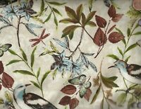 Forest Walk leaves birds flowers nature outdoors Wilmington fabric