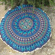Indian Round Mandala Floor Cushion Bohemian Floor Cushion Cover Elephant Mandala